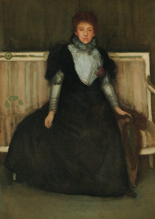 James Abbott McNeill Whistler, Green and Violet: Mrs. Walter Sickert, 1893–94. Oil on canvas. Harvard Art Museums/Fogg Museum, Bequest of Grenville L. Winthrop, 1943.166.
