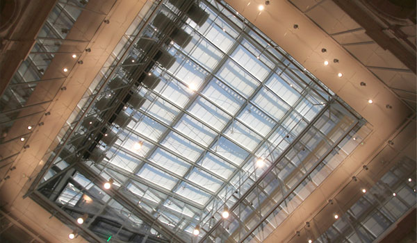 The new roof of the Harvard Art Museums.