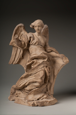 Gian Lorenzo Bernini, Half-Kneeling Angel, 1672. Terracotta. Harvard Art Museums/Fogg Museum, Alpheus Hyatt Purchasing and Friends of the Fogg Art Museum Funds, 1937.65.