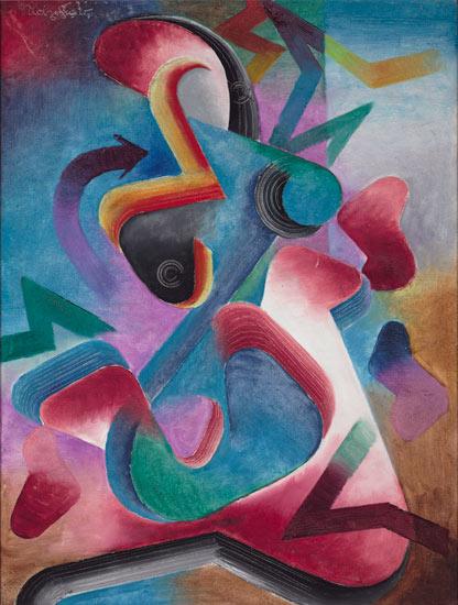 Johannes Molzahn, Homunculus, 1920, Harvard Art Museums/Busch-Reisinger Museum.