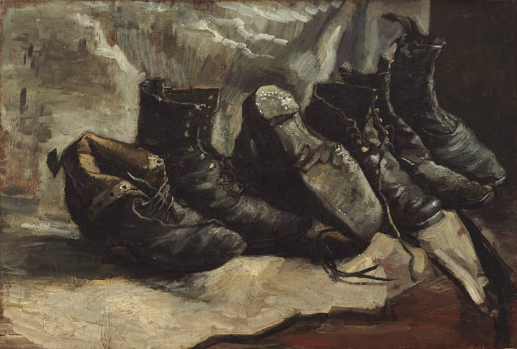 Vincent van Gogh, Three Pairs of Shoes, 1886–87, Harvard Art Museums/Fogg Museum.