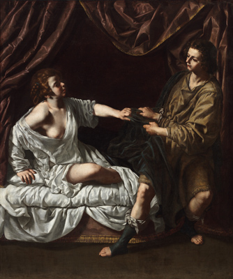 Paolo Finoglia, Joseph and Potiphar's Wife, c. 1640. Oil on canvas. Harvard Art Museums/Fogg Museum, Gift of Samuel H. Kress Foundation, 1962.163.