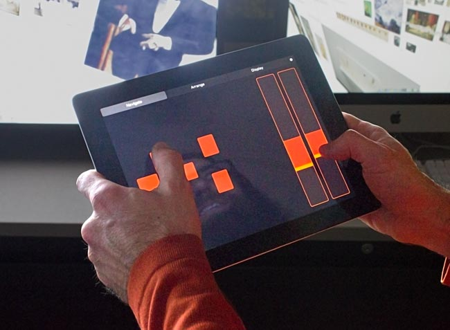 An iPad is used to navigate the collections in a 3D virtual storeroom.