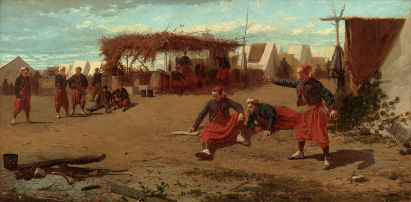 Winslow Homer, Pitching Quoits, 1865. Oil on canvas. Fogg Museum, Gift of Mr. and Mrs. Frederic Haines Curtiss, 1940.298.