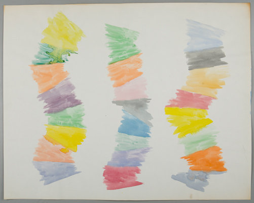 Richard Tuttle, Study for Stacked Color I, 1972. Watercolor and graphite on off-white wove paper. Harvard Art Museums/Fogg Museum, The Dorothy and Herbert Vogel Collection: Fifty Works for Fifty States, a joint initiative of the Trustees of the Dorothy and Herbert Vogel Collection and the National Gallery of Art, with generous support from the National Endowment for the Arts and the Institute of Museum and Library Services, 2008.330.17. © Richard Tuttle.