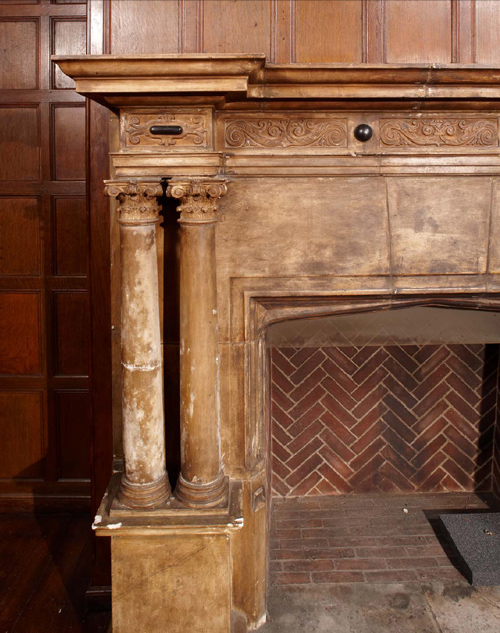 Detail of fireplace, 2008. Photo: Peter Vanderwarker.