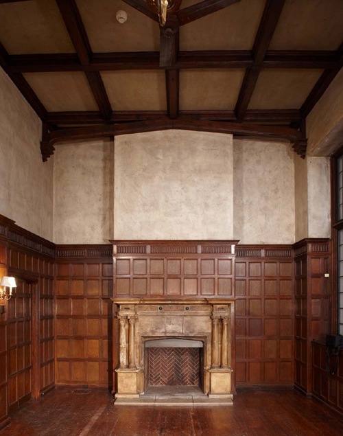 Fireplace in the great hall, 2008. Photo: Peter Vanderwarker.