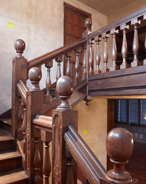 Stairway leading to balcony, 2008. Photo: Peter Vanderwarker.