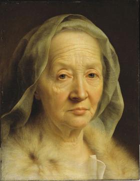 Christian Seybold, Portrait of an Old Woman, 1749–50, Harvard Art Museums/Fogg Museum.