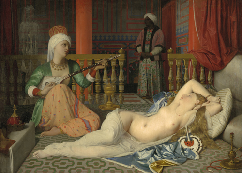 Jean-Auguste-Dominique Ingres, Odalisque with a Slave, 1839–40, Harvard Art Museums/Fogg Museum.