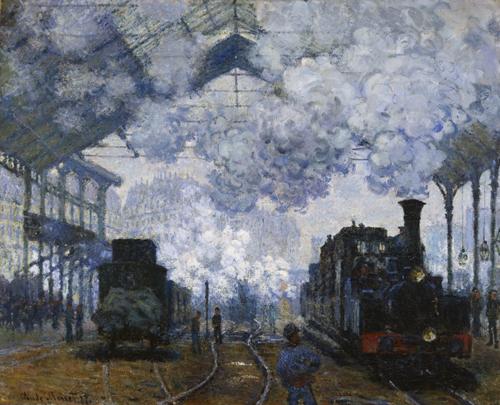 Claude Monet, The Gare Saint-Lazare: Arrival of a Train, 1877, Harvard Art Museums/Fogg Museum.