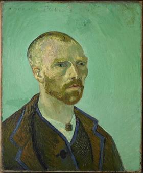 Vincent van Gogh, Self-Portrait Dedicated to Paul Gauguin, 1888, Harvard Art Museums/Fogg Museum.