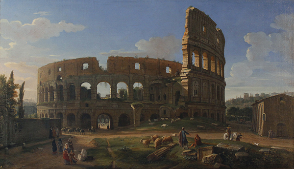 Gaspar van Wittel (called Vanvitelli), The Colosseum Seen from the Southeast, c. 1700, Harvard Art Museums/Fogg Museum, after treatment. Photo: Antoinette Hocbo.