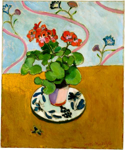 Henri Matisse, Geraniums, 1910, Harvard Art Museums/Fogg Museum. © 2013 Succession H. Matisse / Artists Rights Society (ARS), New York.