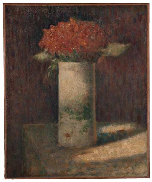 Georges Pierre Seurat, Vase of Flowers, c. 1879–81, Harvard Art Museums/Fogg Museum.