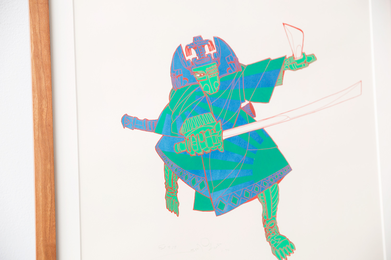 "Walter Simonson, ""Samurai,"" c. 1970. Screenprint. Harvard Art Museums/Fogg Museum, Student Print Rental Program, SR1271."