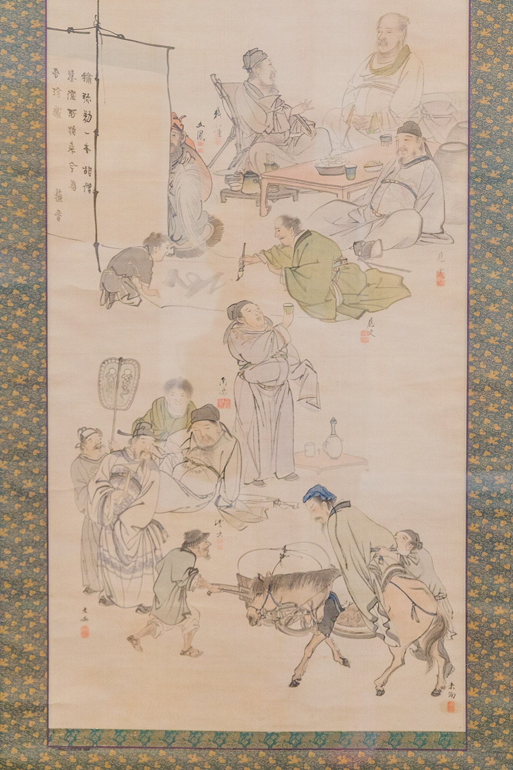Eight Chinese Immortals of the Wine Cup, 1750-1800. Hanging scroll; ink and light color on silk. Promised gift of Robert S. and Betsy G. Feinberg.