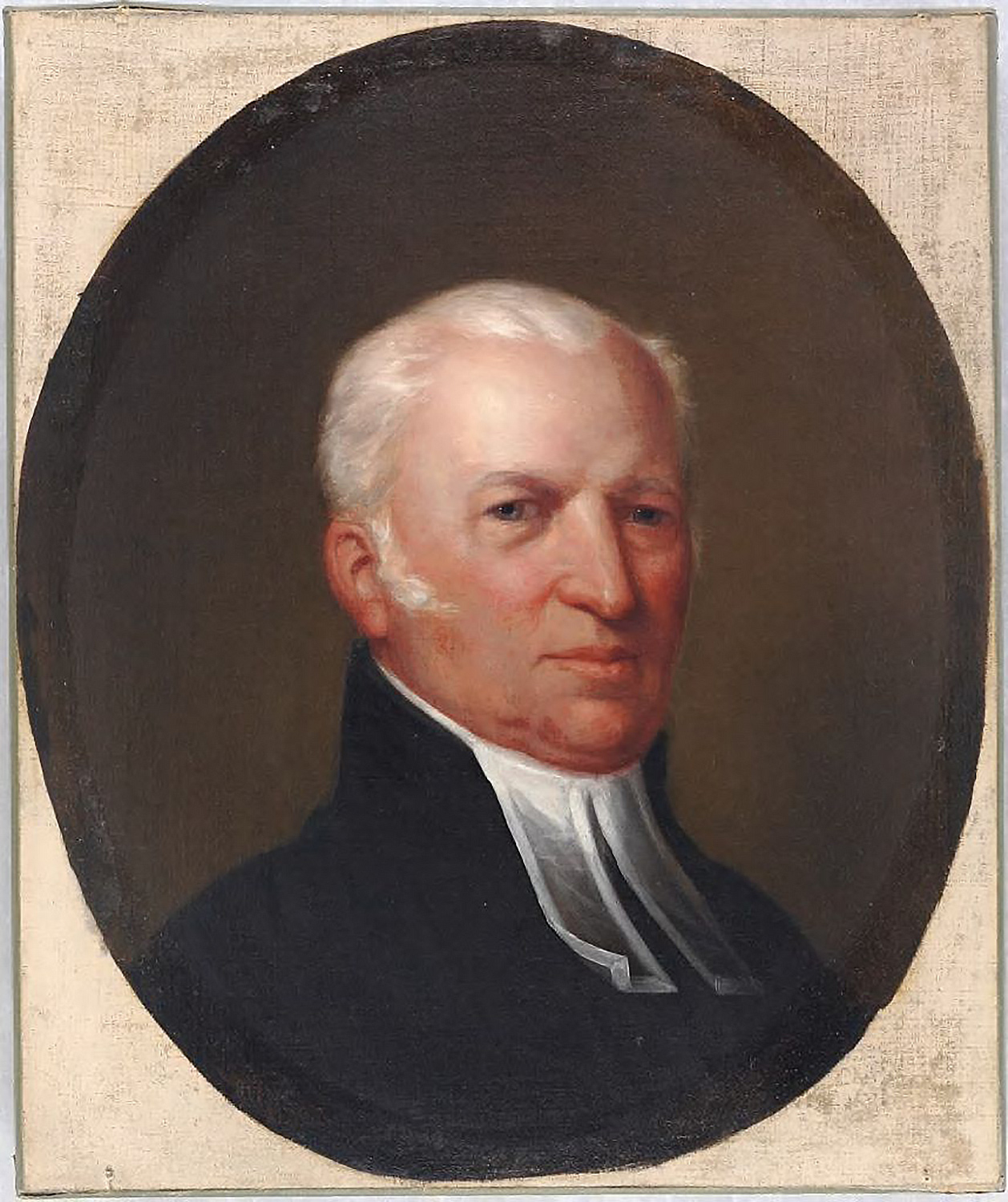 Eliphalet Pearson, depicted in this post-1817 portrait, debated with his classmate Theodore Parsons in July 1773. There are no extant images of Parsons.