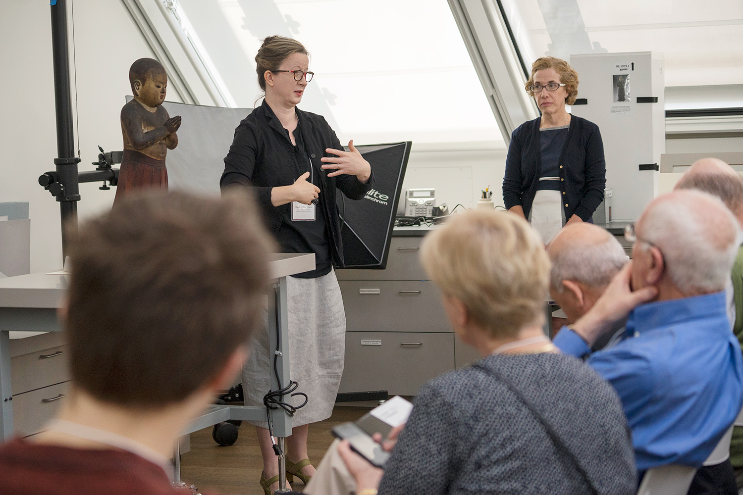 Also in the Straus Center, Rachel Saunders, the Abby Aldrich Rockefeller Associate Curator of Asian Art, shares recent findings about the museums' 13th-century sculpture of Prince Shōtoku.