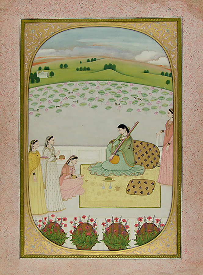 Chitrini Nayika, India, Himachal Pradesh, Kangra, late 18th century. Opaque watercolor and gold on paper. Harvard Art Museums/Arthur M. Sackler Museum, Gift of John Kenneth Galbraith, 1971.127.