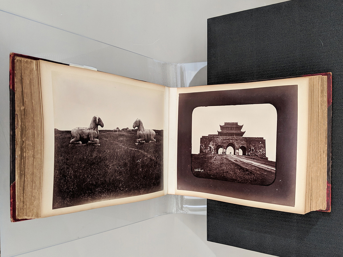 Two pages from an untitled album from China, dated around 1857–74.