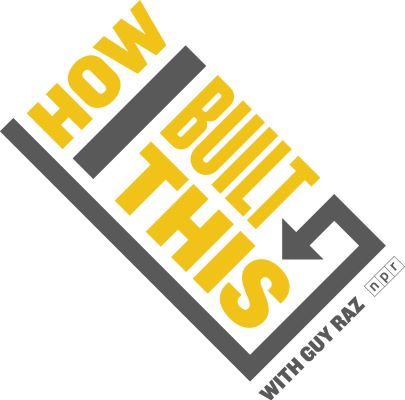 "In this tilted graphic, a grey line descends from the top left to the bottom right, ending on the lower right side of the graphic in an arrow. Toward the top, ""HOW"" is written above a grey ""I"" and in between the bar and arrow are the words ""BUILT THIS."""