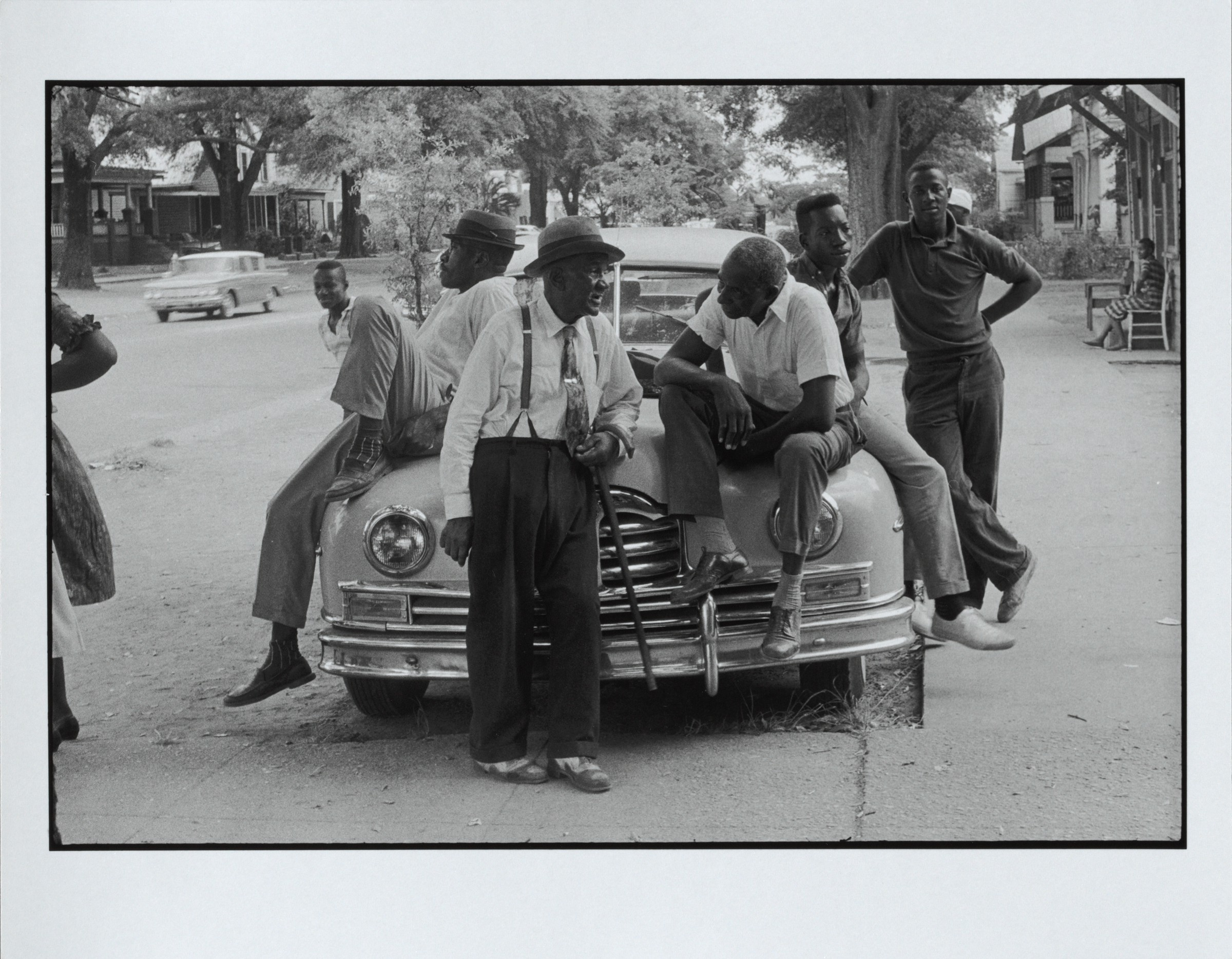 Danny Lyon, A street in Albany, 1962, printed 2010. Gelatin silver print. Harvard Art Museums/Fogg Museum, Anonymous gift, 2013.110.
