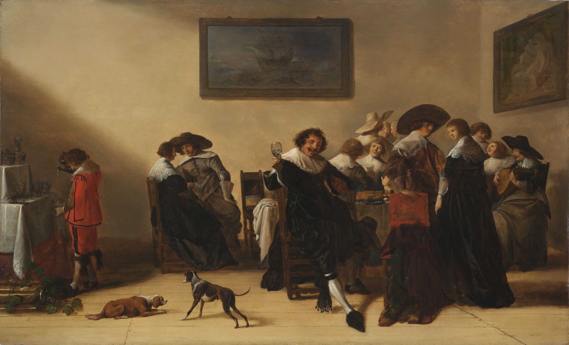 Anthonie Palamedesz., Merry Company in an Interior, 1633. Oil on panel. Harvard Art Museums/Fogg Museum, Gift of Peter and Anne Brooke, 2016.244.