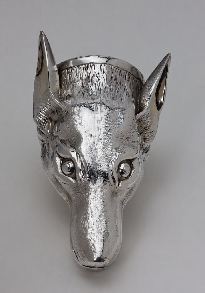 Thomas Pitts I, British, Stirrup cup in the form of a fox head, 1771. Silver with traces of gilding and gilded interior. Harvard Art Museums/Fogg Museum, Paul Clarke Stauffer Fund, 2012.6.