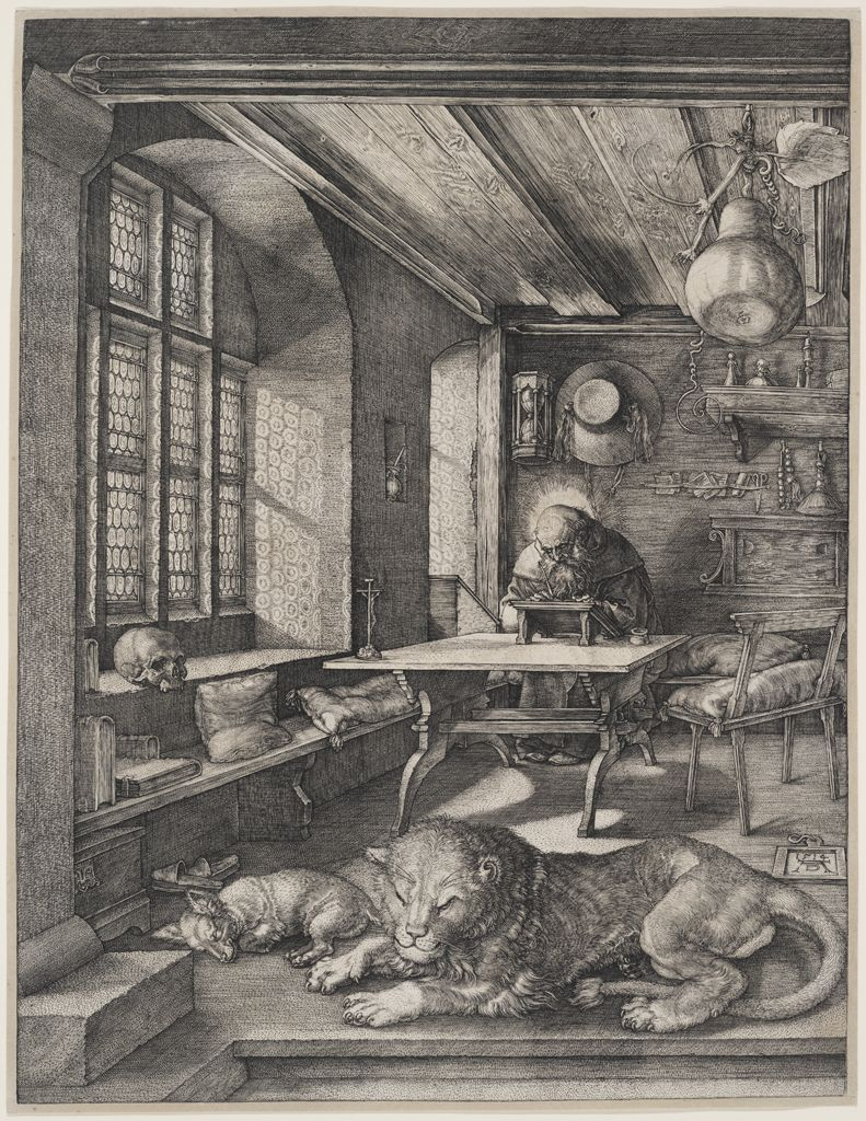 Albrecht Dürer, Saint Jerome in his Study, 1514. Engraving.