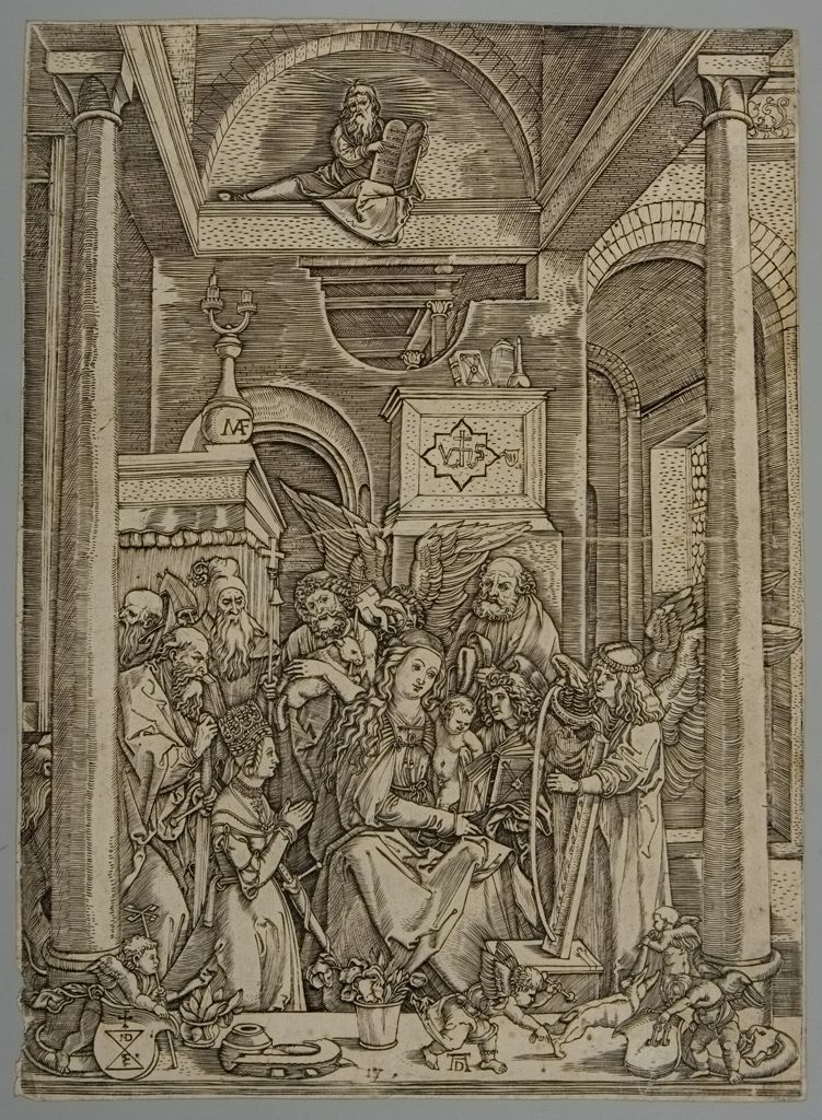 Marcantonio Raimondi's copy of Glorification of the Virgin, 16th century. Engraving.