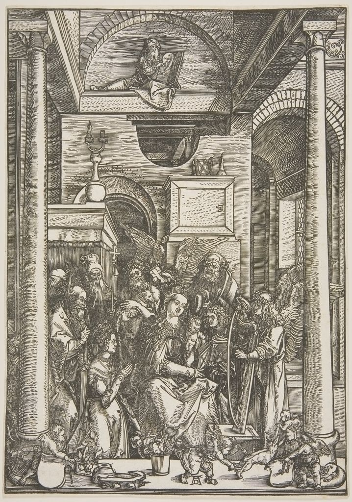 Albrecht Dürer, Glorification of the Virgin, 15th–16th century. Woodcut.