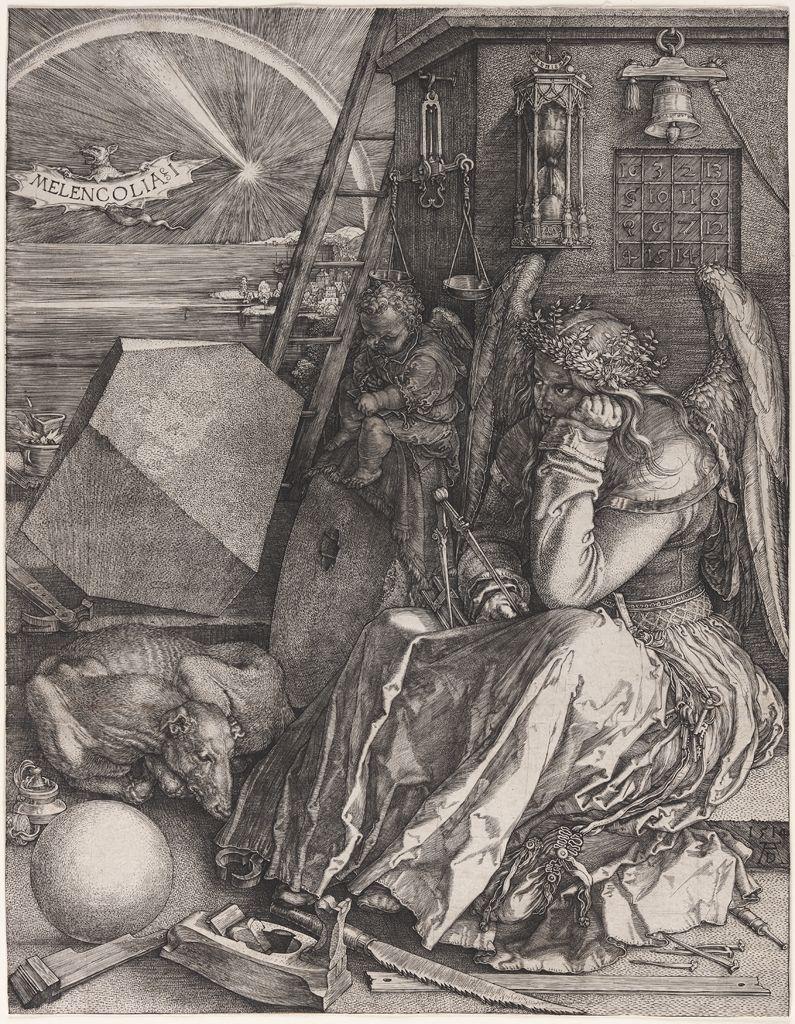 Albrecht Dürer, Melencolia I, 1514. Engraving.