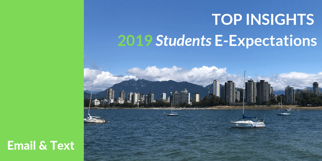 Top Insights on Email and Text for Higher Ed from the 2019 Student E-Expectations Survey