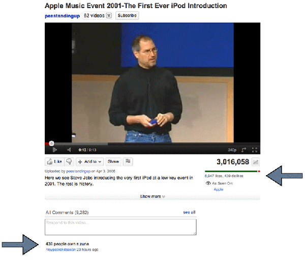 Screenshot showing YouTube video with comment