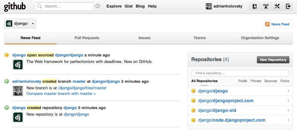 Screenshot of GitHub upload