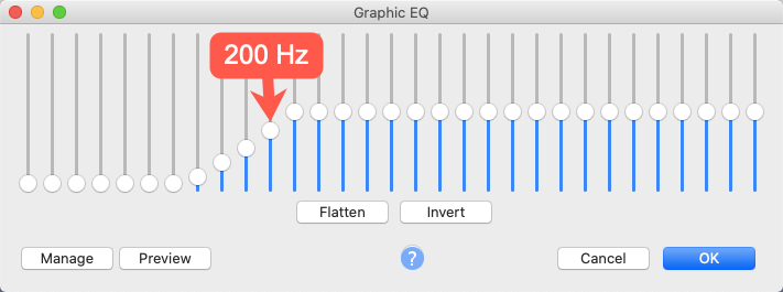 EQ for getting rid of P-Pop In Audacity