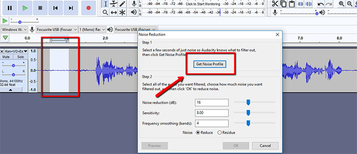 Audacity Noise Profile