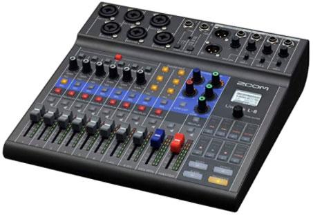 Zoom LiveTrak L-8 Podcast Recorder