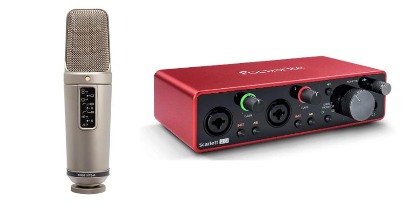 Rode NT2A mic with Scarlett 2i2 interface