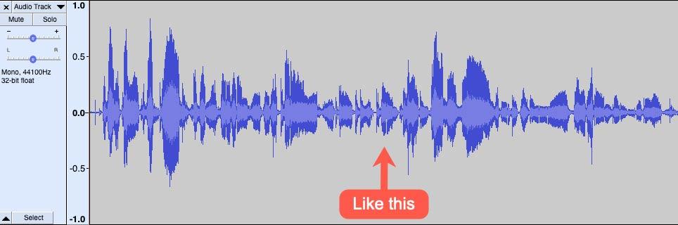Audio level just right