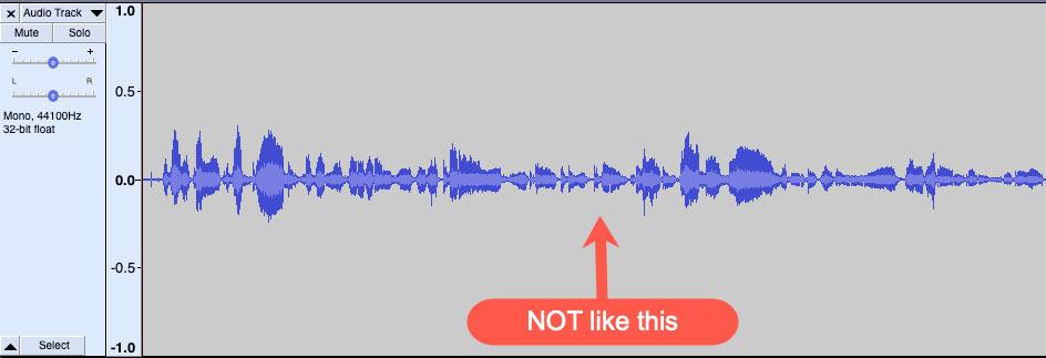 Audio level too low