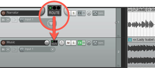 Track routing for ducking in Reaper