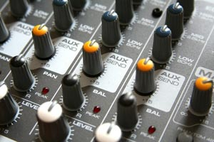 Auxiliary send on a mixer