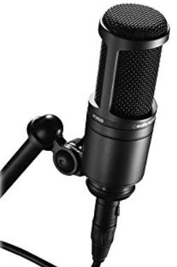 Audio-Technica AT2020 large diaphragm condenser mic