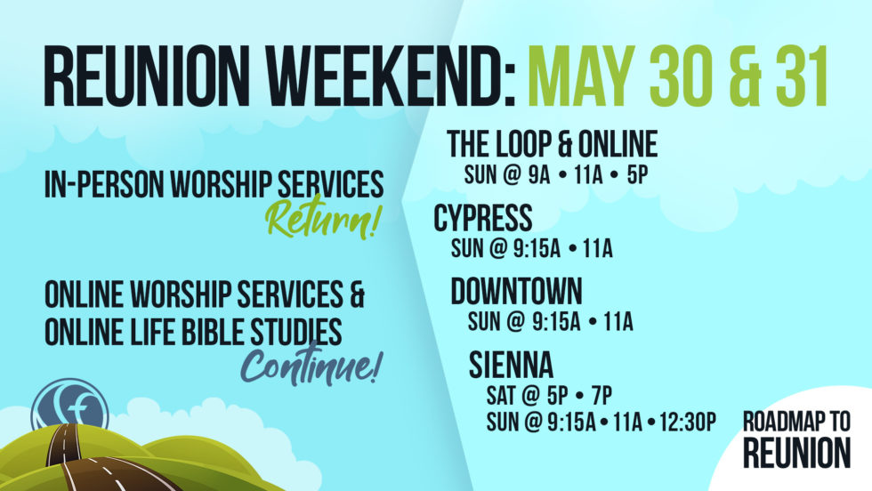 Comm Roadmap To Reunion Weekend Schedule