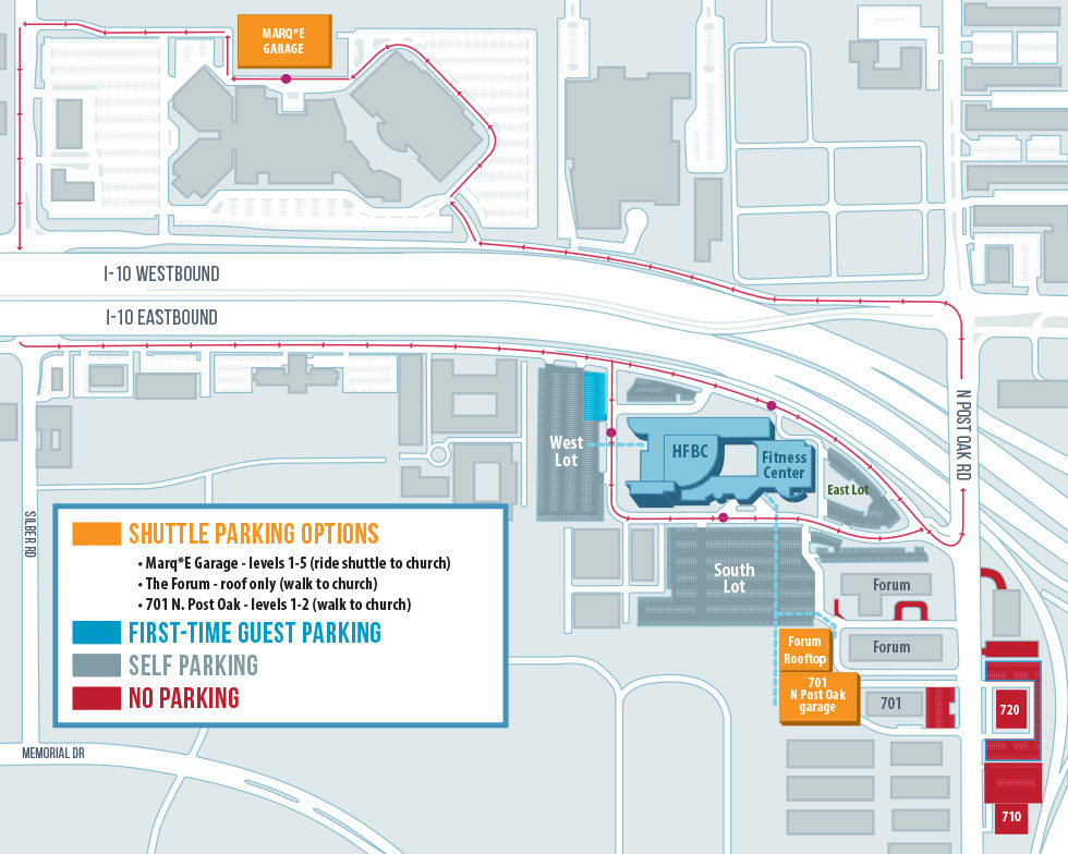 Shuttle Parking Map March 2020