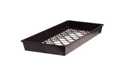 "10"" x 20"" Mesh Bottom Tray - Large Hole Mesh"