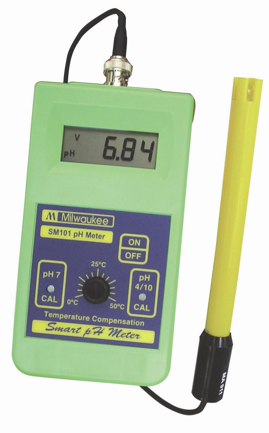 Ph Meter For Chemicals : Milwaukee sm economy portable ph meter accuracy
