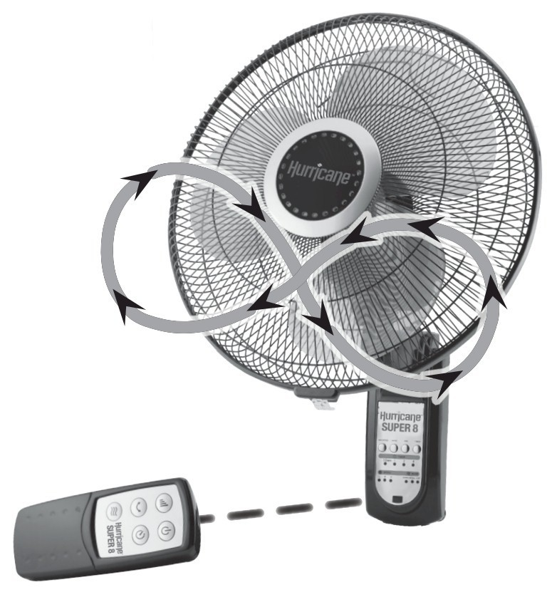 hurricane super 8 digital wall mount fan 16 in image 1